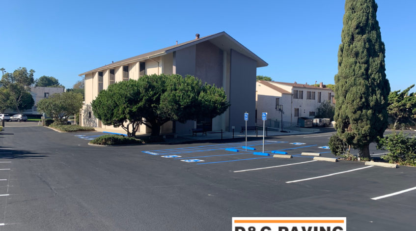 Church Parking Lot in Redondo Beach - ADA Compliant Sealcoating & Striping by D&G Paving