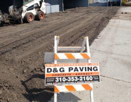 D&G Paving - hard at work