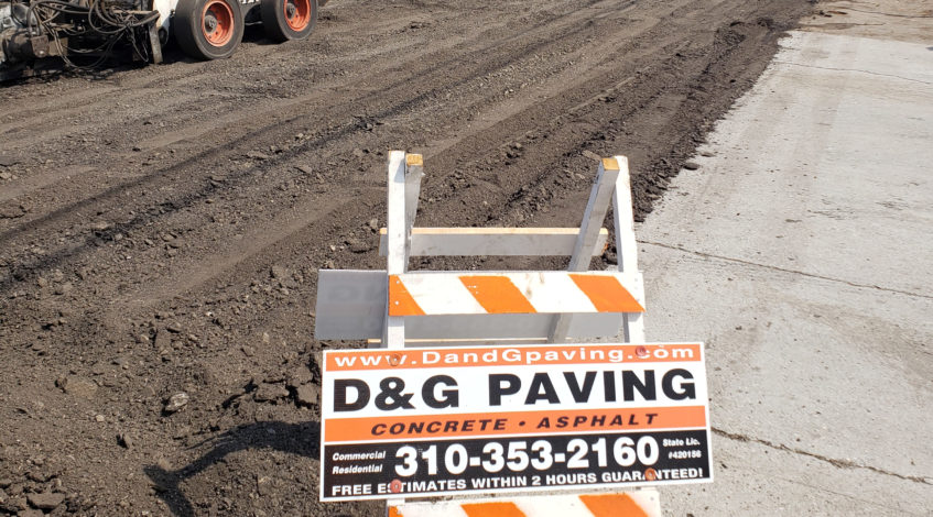 D&G Paving - hard at work
