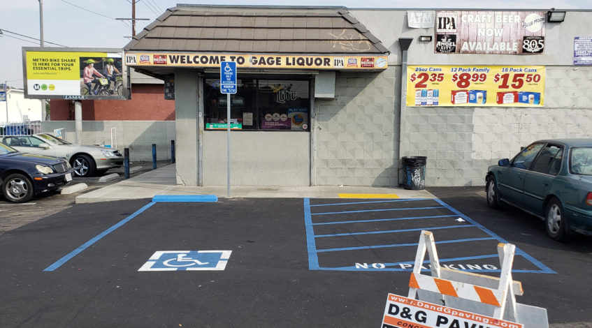 D&G Paving - After - ADA Compliant Sealcoating & Striping of a local liquor store in Torrance, CA