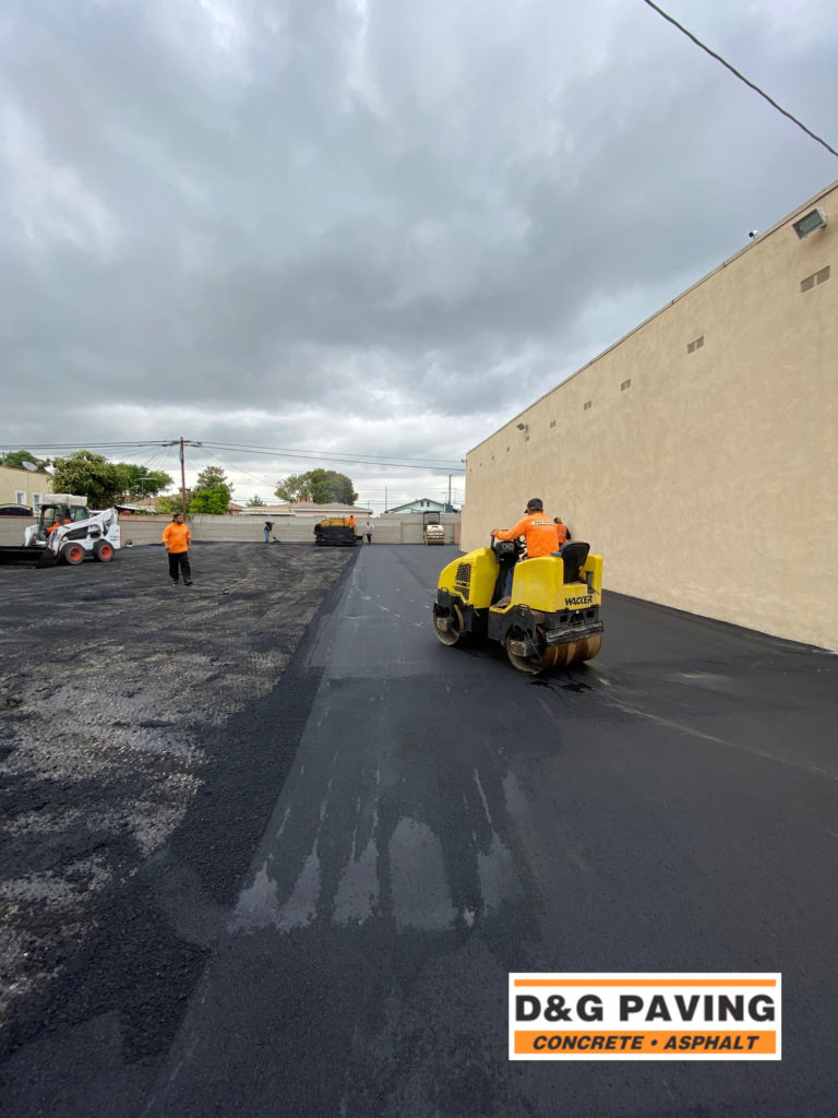 D&G Paving of Torrance, CA, hard at work