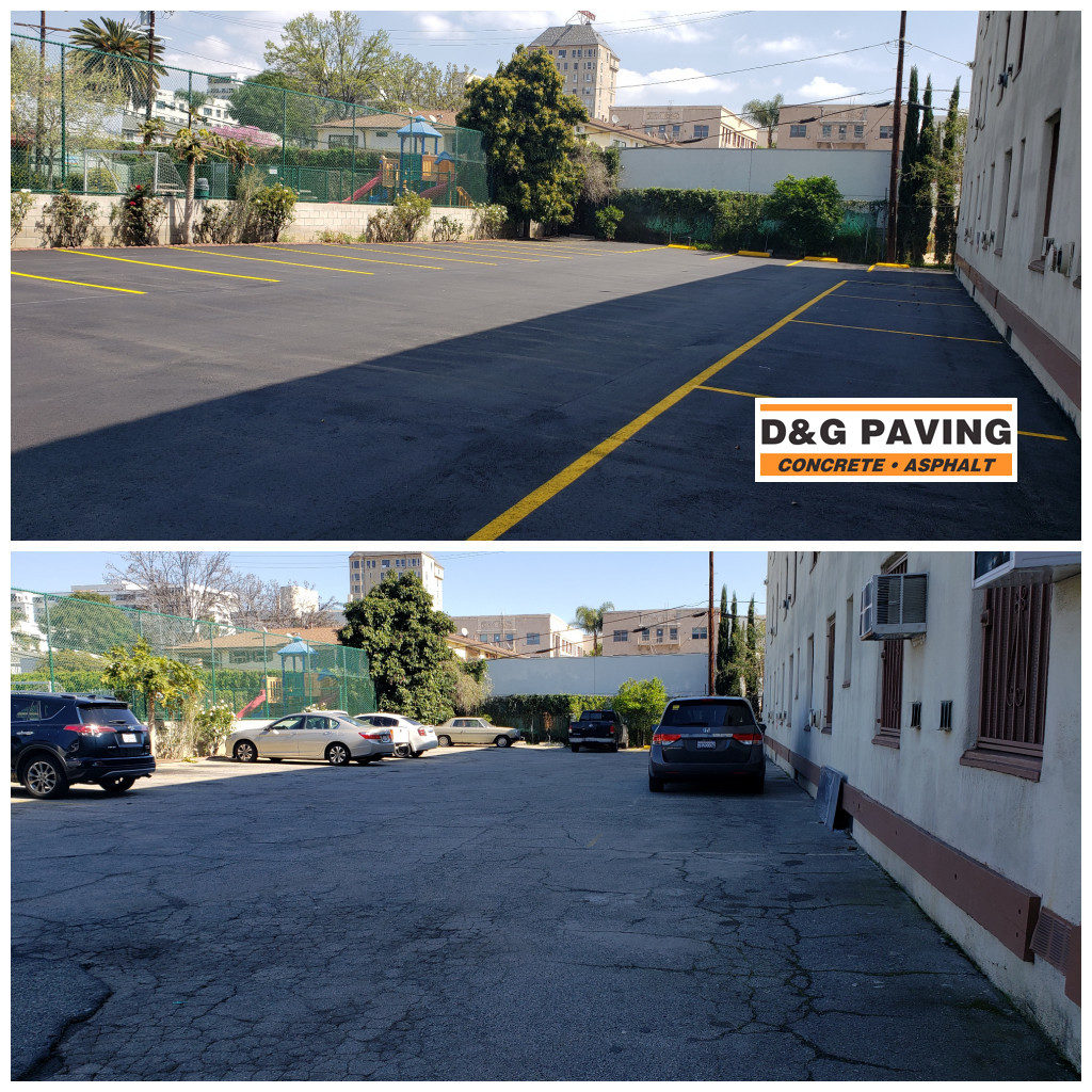 D&G Paving - Before & After: ADA Compliant Sealcoating & Striping