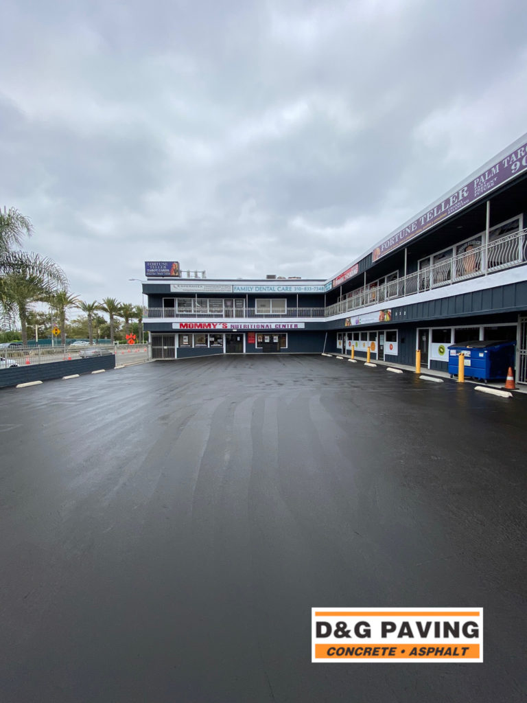 D&G Paving - during: a local South Bay Shopping Complex