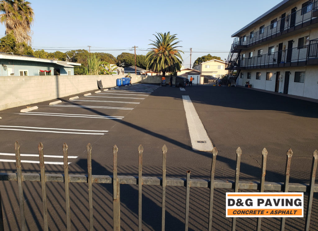D&G Paving - after picture: a local South Bay apartment complex