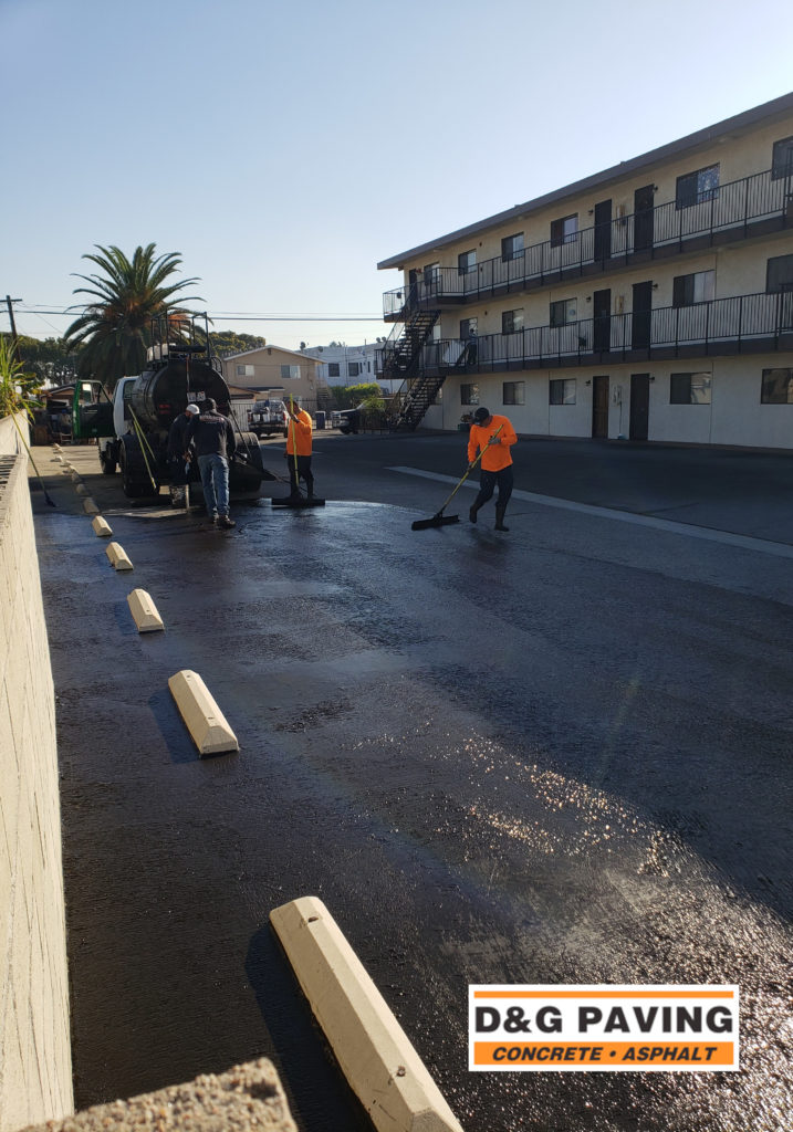 D&G Paving hard at work at a local South Bay apartment complex